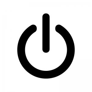 電源マークのシルエット