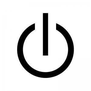電源マークのシルエット02