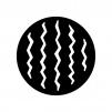 スイカの白黒シルエットイラスト