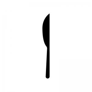 食事用ナイフのシルエット