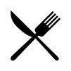 食事マークのシルエット02