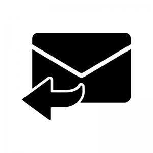 返信メールのシルエット