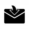 メール受信のシルエット