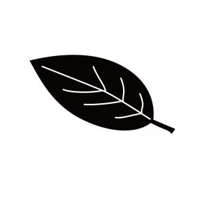 葉っぱのシルエット