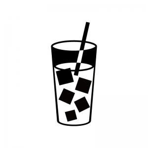 氷入りのジュースのシルエット