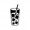 氷入りの炭酸ジュースのシルエット