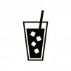 氷入りのジュースのシルエット02