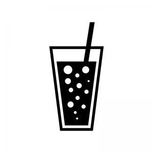 炭酸ジュースのシルエット 無料のaipng白黒シルエットイラスト