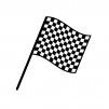 チェッカーフラッグのシルエット02