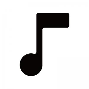 音符のシルエット02