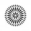 8月・花火の白黒シルエットイラスト素材03