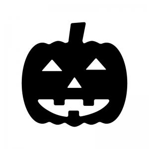 ハロウィンかぼちゃお化けのシルエット 無料のaipng白黒シルエット