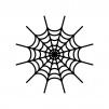 蜘蛛の巣の白黒シルエットイラスト素材