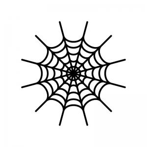蜘蛛の巣のシルエット 無料のaipng白黒シルエットイラスト