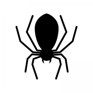 蜘蛛の白黒シルエットイラスト素材