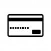 クレジットカード・キャッシュカードの白黒シルエットイラスト素材