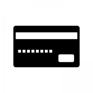クレジットカード・キャッシュカードの白黒シルエットイラスト素材02
