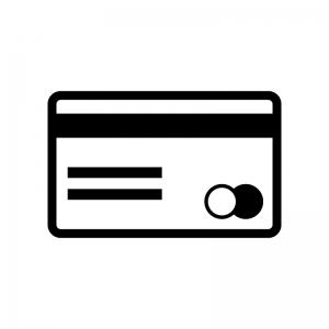 クレジットカード・キャッシュカードの白黒シルエットイラスト素材03