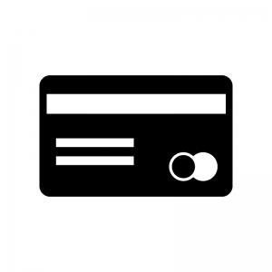 クレジットカード・キャッシュカードの白黒シルエットイラスト素材04