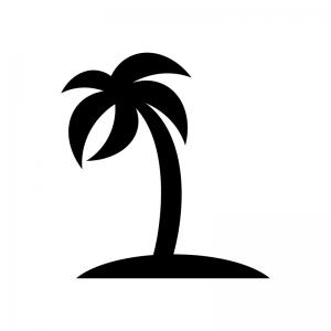 ヤシの木のシルエット 無料のaipng白黒シルエットイラスト