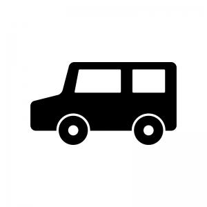 自動車・コンパクトカーの白黒シルエットイラスト素材