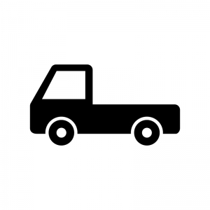自動車・トラックの白黒シルエットイラスト素材