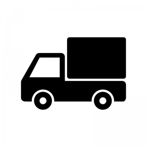 自動車・トラックの白黒シルエットイラスト素材02