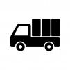 自動車・トラックの白黒シルエットイラスト素材03