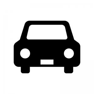 フロント正面の自動車のシルエット 無料のaipng白黒シルエットイラスト