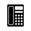 家庭用電話機の白黒シルエットイラスト素材02