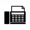 家庭用FAX機の白黒シルエットイラスト素材