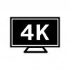 4Kテレビの白黒シルエットイラスト素材02