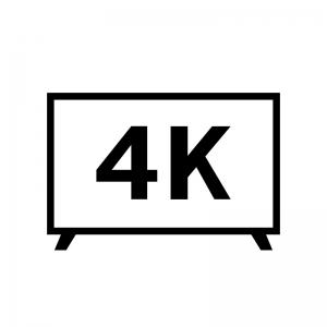 4Kテレビの白黒シルエットイラスト素材03