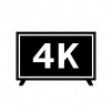 4Kテレビの白黒シルエットイラスト素材04
