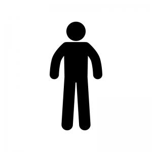 男性の白黒シルエットイラスト素材02