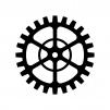 歯車(ギア)の白黒シルエットイラスト素材