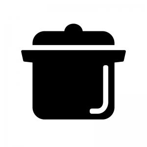 鍋の白黒シルエットイラスト素材