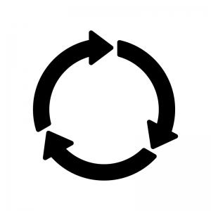 丸いロータリーの白黒シルエットイラスト素材
