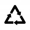 三角のロータリーの白黒シルエットイラスト素材