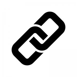 鎖・リンクマークの白黒シルエットイラスト素材02