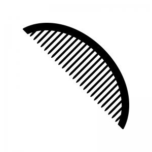 ブラシ・コームの白黒シルエットイラスト素材