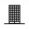 高層ビルの白黒シルエットイラスト素材