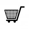ショッピングカートの白黒シルエットイラスト素材03