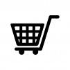 ショッピングカートの白黒シルエットイラスト素材04