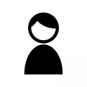 人物の白黒シルエットイラスト素材03