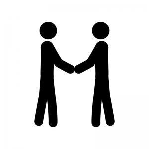 握手している人のシルエット | 無料のAi・PNG白黒シルエットイラスト