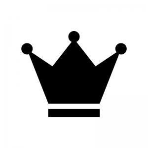 王冠の白黒シルエットイラスト素材