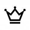 王冠の白黒シルエットイラスト素材02