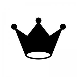 王冠の白黒シルエットイラスト素材03
