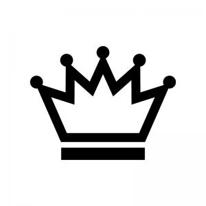 王冠の白黒シルエットイラスト素材05